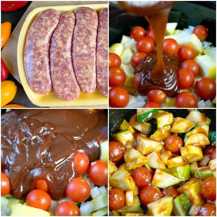 crockpot sausage and vegetables