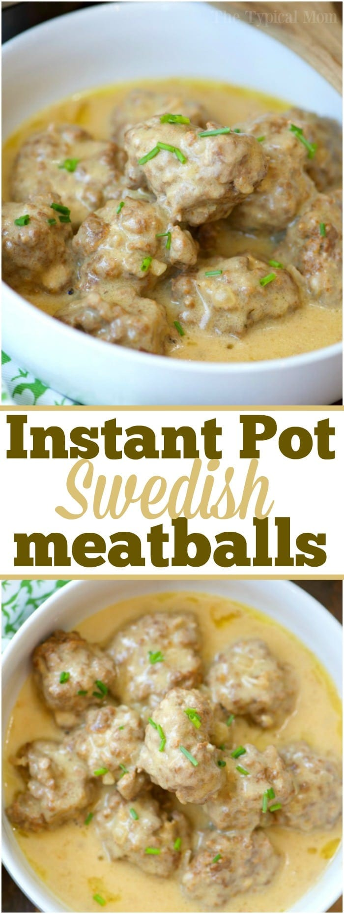 These easy homemade Instant Pot Swedish meatballs are heavenly! Total comfort food at it's finest and takes less than 20 minutes to make. You've got to try! #instantpot #swedishmeatballs #meatballs #pressurecooker