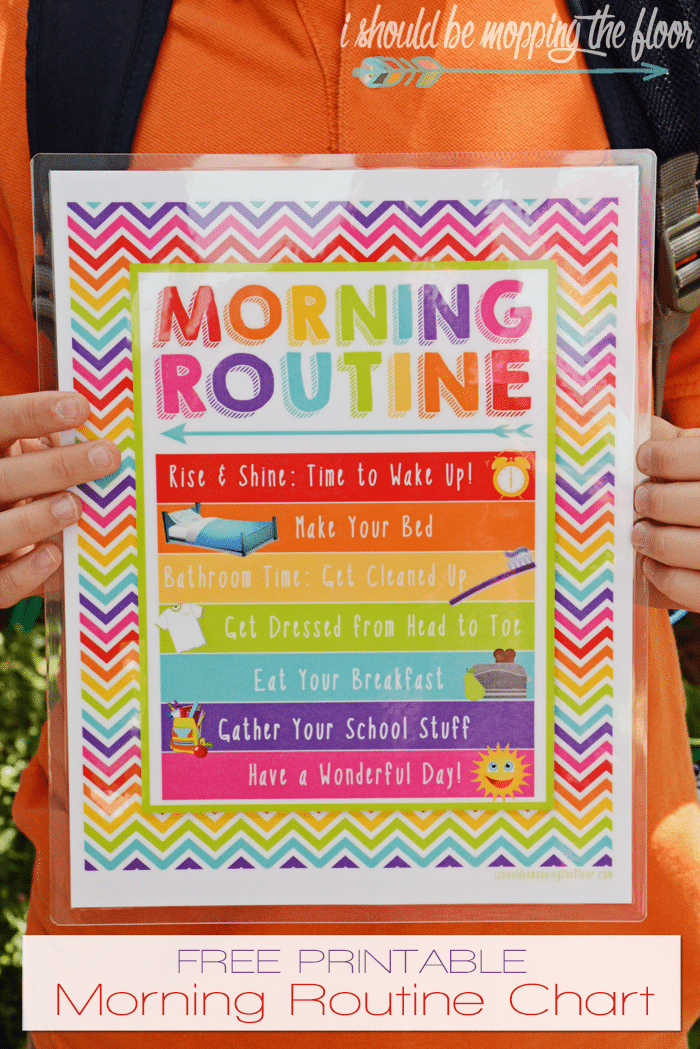 free printable morning routine chart