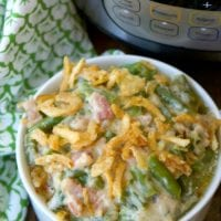 Instant Pot Green Bean Casserole with Bacon