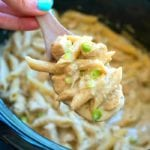 crockpot pesto chicken alfredo casserole
