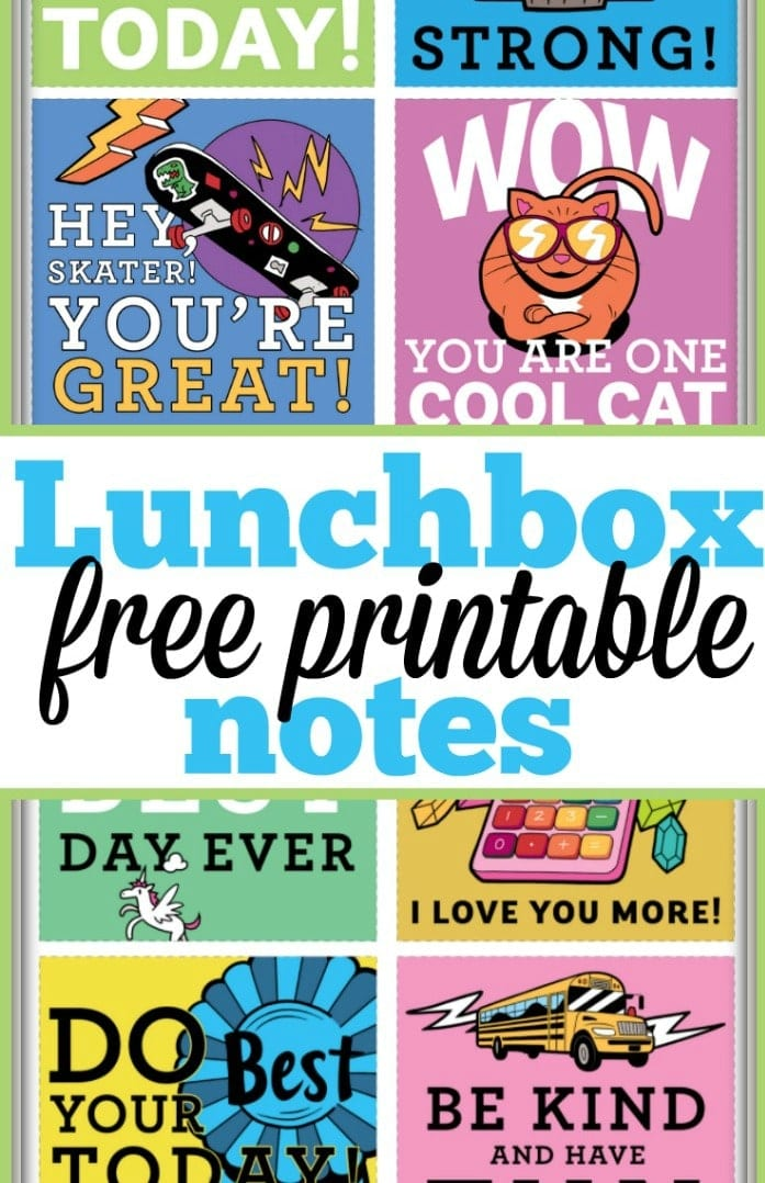 picture about Printable Lunchbox Notes called Absolutely free Printable Lunchbox Notes · The Standard Mother