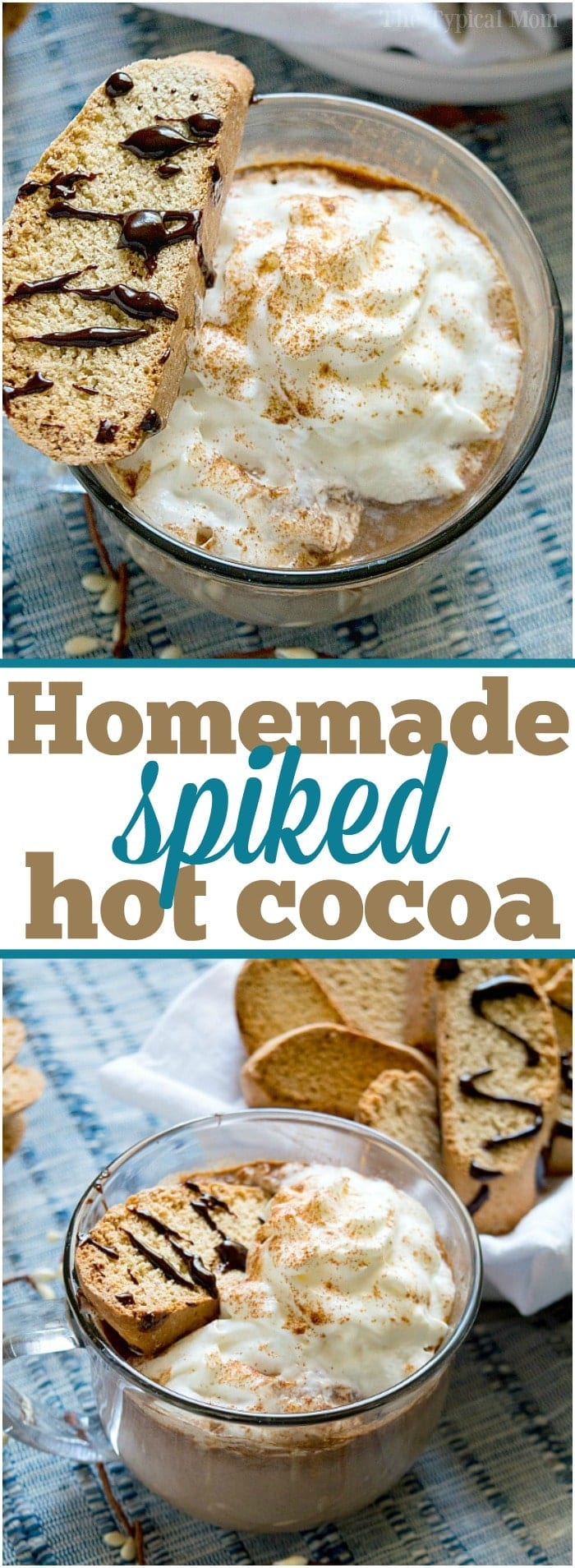 How to make hot chocolate from scratch and spiked if you want to as well! Perfect hot drink during the Winter that's easy to throw together and delicious! #hotchocolate #homemade #easy #spiked #crockpot