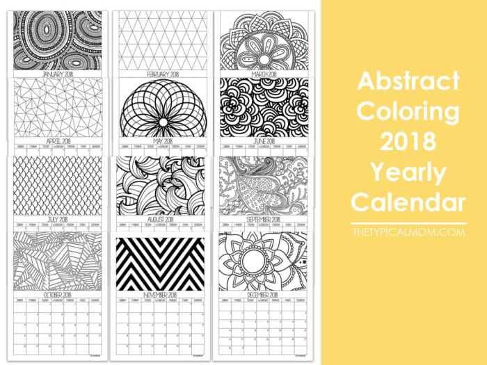 photo about Printable Coloring Calendar referred to as Printable Calendar Web pages · The Regular Mother
