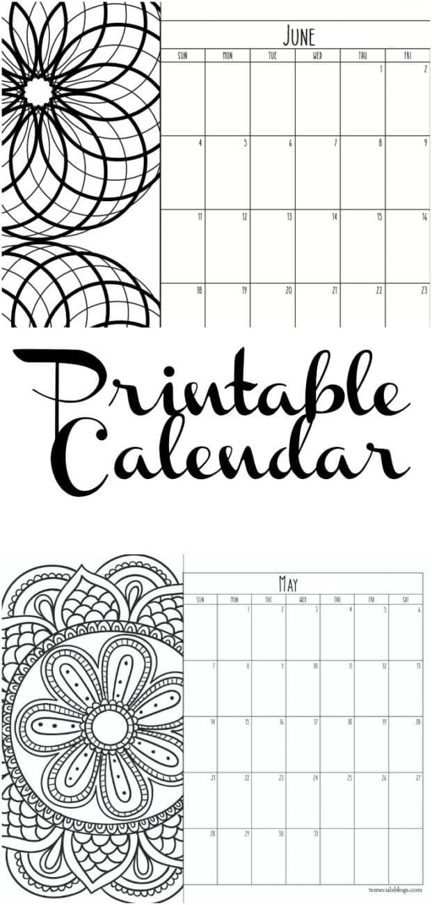 June Calendar Picture Ideas : Printable calendar pages · the typical mom