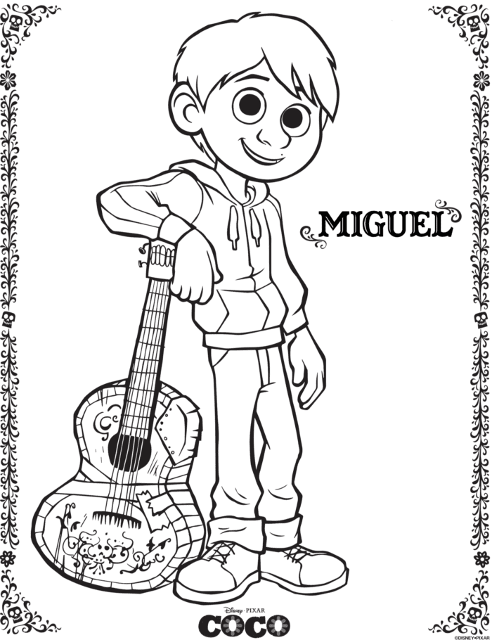 Disney Coco Free Printables Coloring Pages The Typical Mom