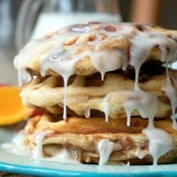 Apple Pie Stuffed Cinnamon Roll Waffles