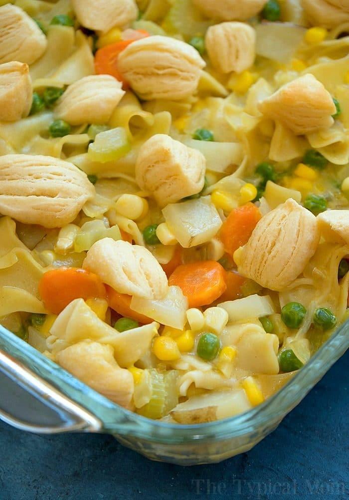 easy chicken pot pie casserole 4