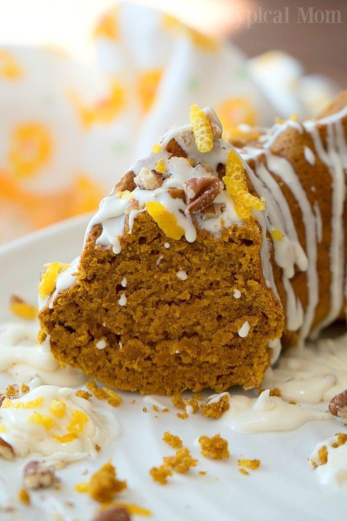 easy gingerbread pumpkin bundt cake 3