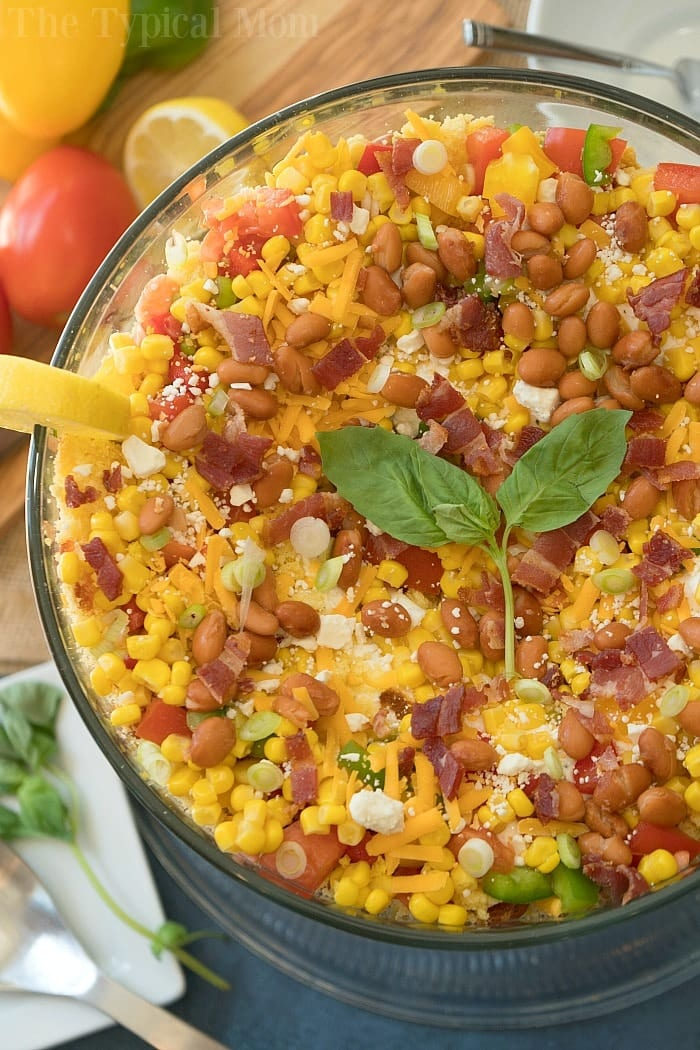 Southern Easy Layered Cornbread Salad 183 The Typical Mom