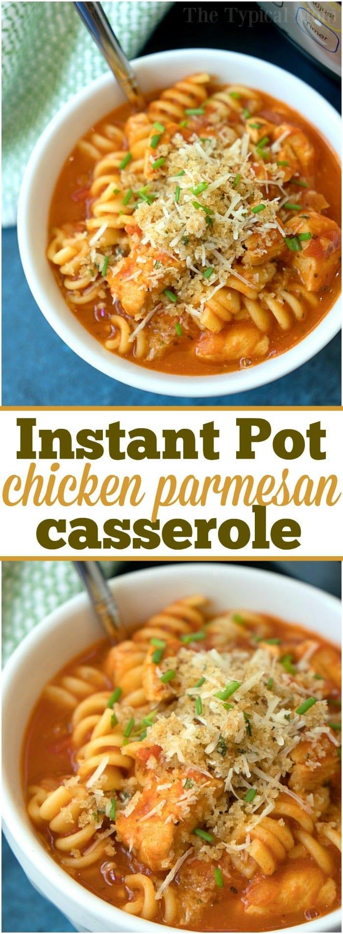 instant pot chicken parmesan casserole 3