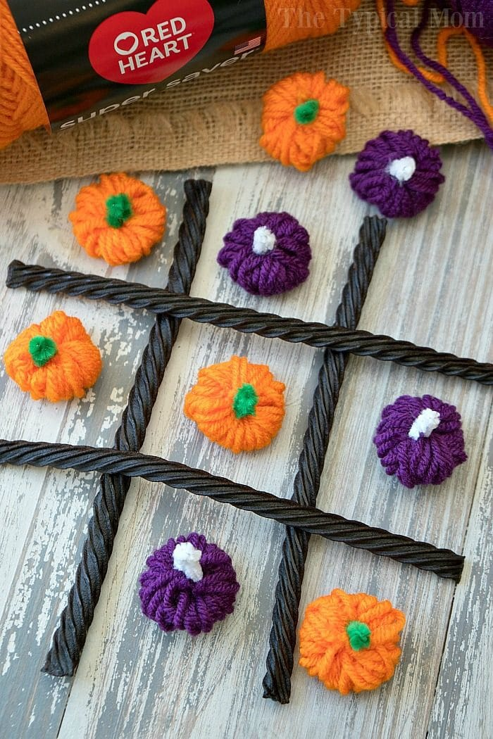 yarn pumpkin craft 2
