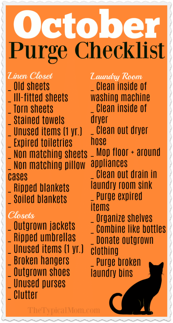 fall cleaning checklist  u00b7 the typical mom