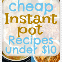 Cheap Instant Pot Recipes