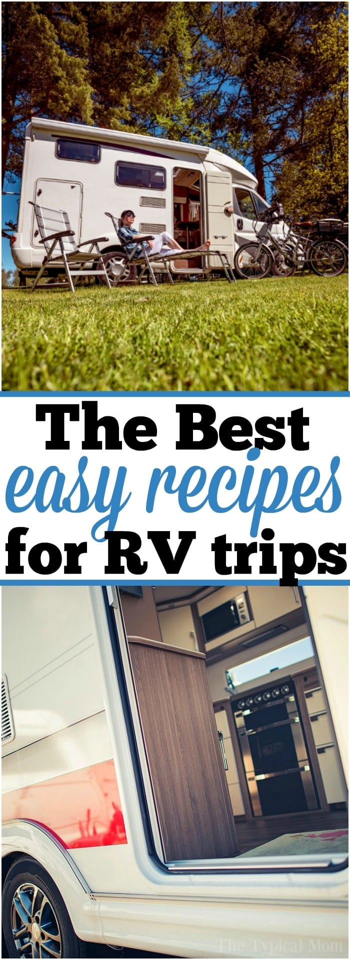 If you travel a lot like we do you need a few easy RV meals to prepare when you're camping or on a road trip! RV meal planning is here to make it easier as well as links to easy recipes you can make when you're glamping in your RV wherever you go. Here's my trick to cooking an entire meal in 20 minutes each night! #camping #rv #meals #recipes #easy