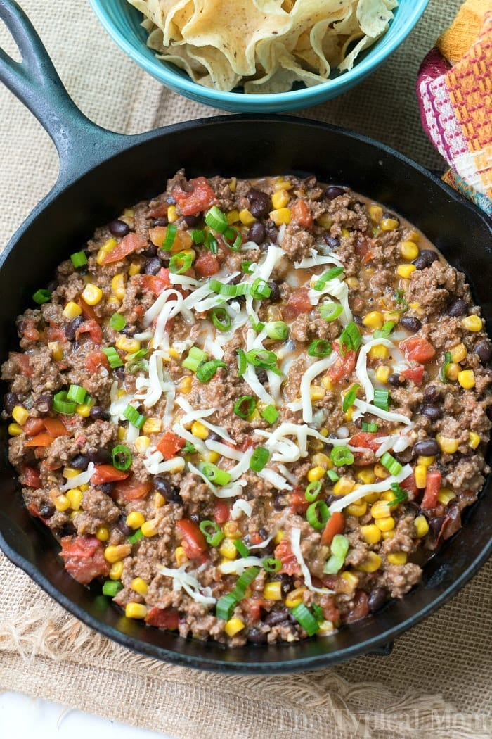 Taco Dip with Ground Beef