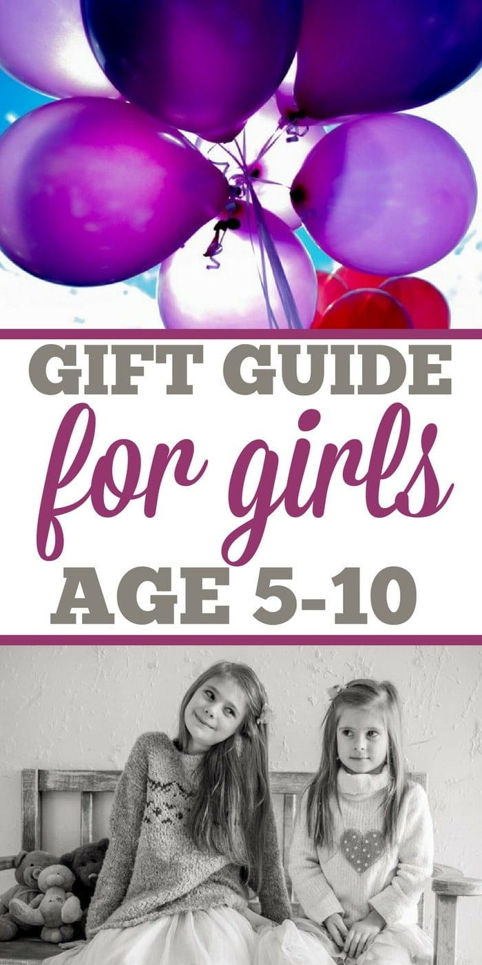 Here's the ultimate gift guide for girls 5-10 years old! What girls want for Christmas and their birthdays at that age that's fun and what's practical too. #girls #giftguide #gifts #whattobuy #five #ten #christmas