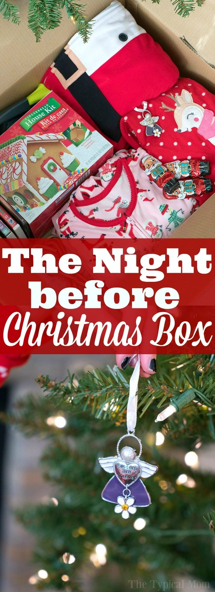 The night before Christmas box tradition is so much fun! Here's how you make one and why my kids look forward to it  every year no matter how old they are. #night #before #christmas #box #tradition #new #thetypicalmom #nightbeforechristmas