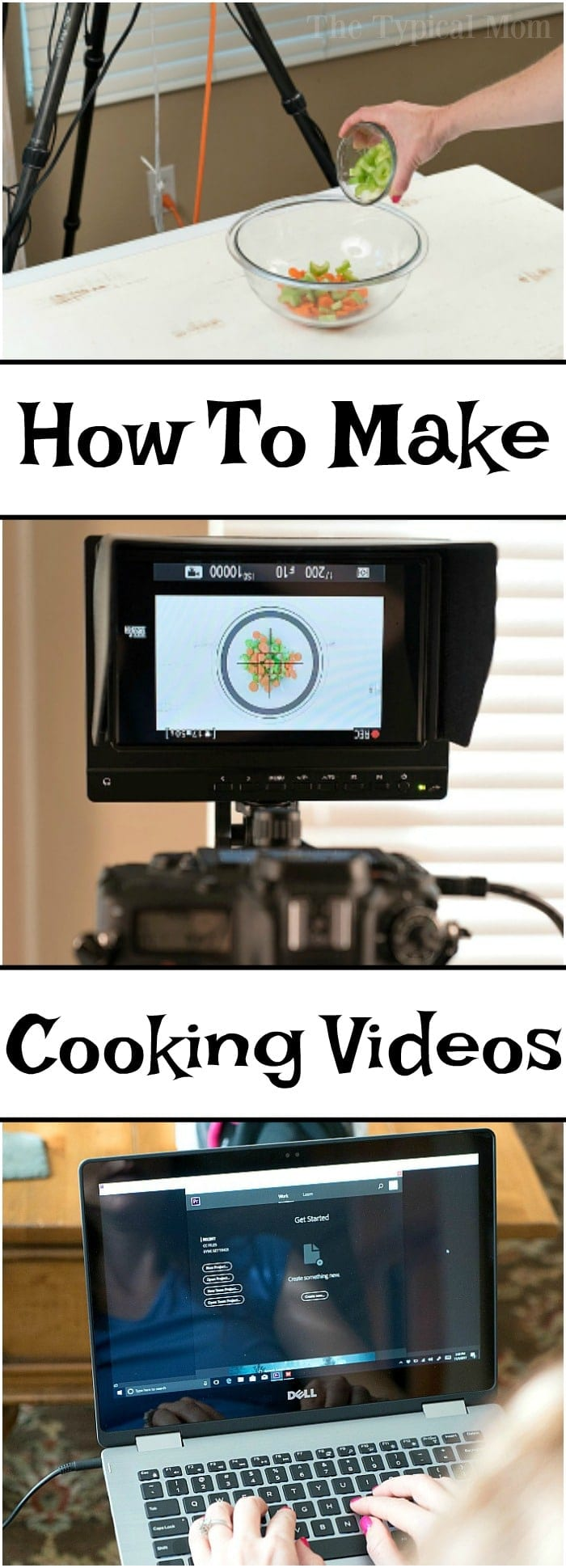 This is how to make quick cooking videos at home! Tutorial on what lighting to use and how to edit your videos on your computer too. Easy step by step.