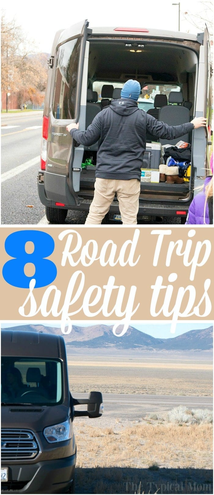 Here are 8 road trip safety tips from a family who travels a lot! What to bring, what to do in case of an emergency, and how to prepare for a long road trip to stay safe along the way. Free checklist to ensure your car is ready and how to keep your kids busy along the way too.