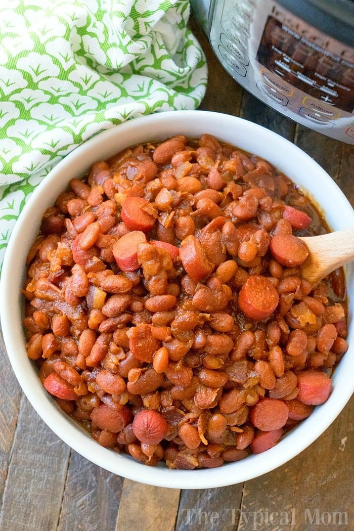 Instant Pot Beans and Franks 4