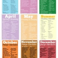 Free Printable Monthly Cleaning Schedule eBook