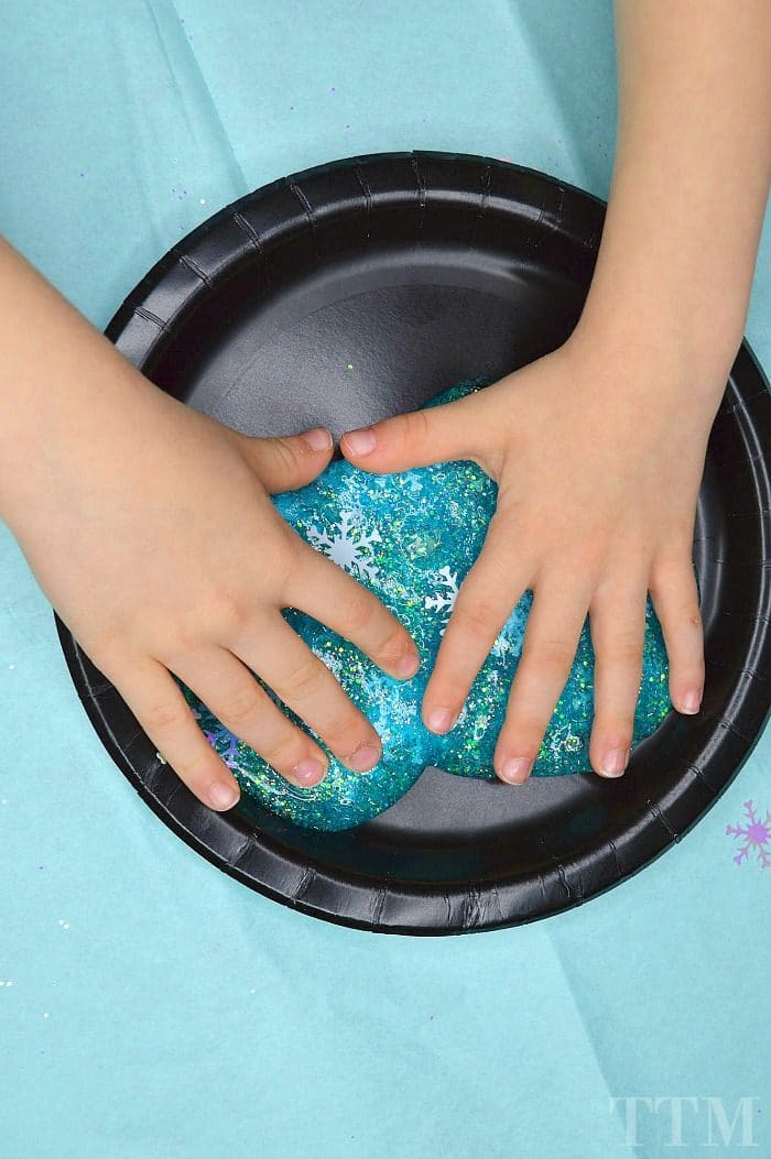 Winter Glitter Slime 2