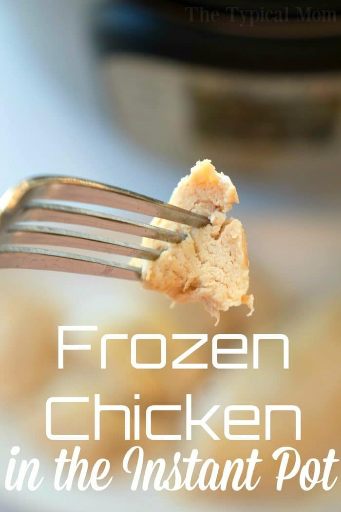 Here's two frozen boneless, skinless chicken breasts. Thunk. Thunk.