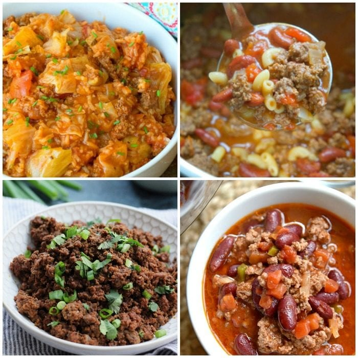 Instant Pot Ground Beef Recipes · The Typical Mom