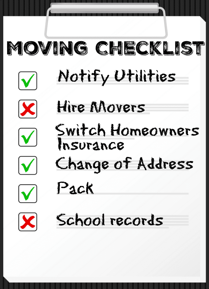 photo regarding Stay Organized With a Printable Moving Checklist named Relocating House Listing · The Regular Mother