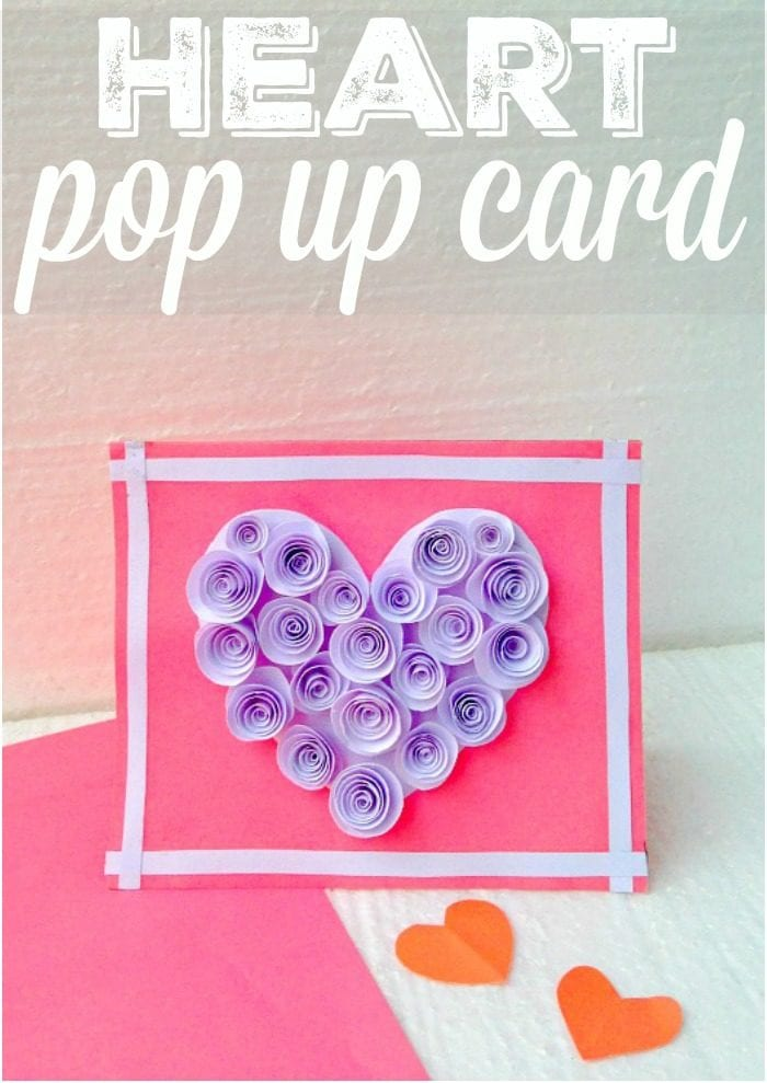 Pop Up Heart Card The Typical Mom
