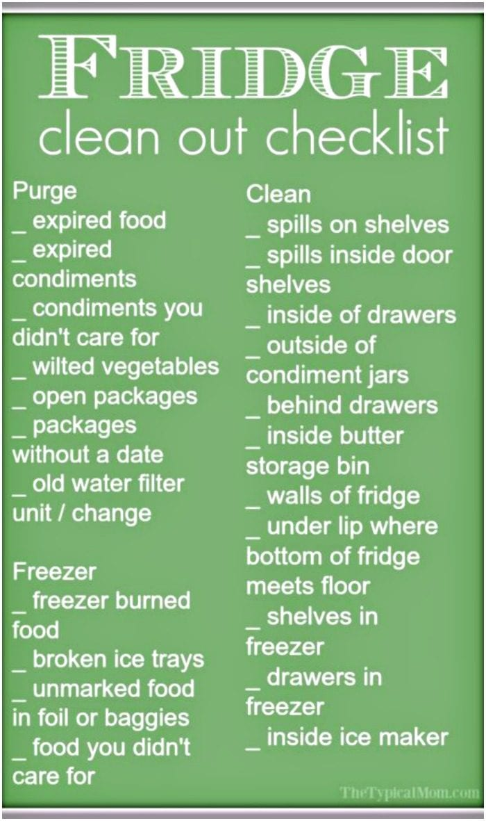 Refrigerator Clean Out · The Typical Mom