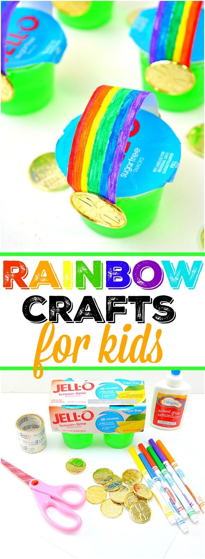 Here are some cute St. Patrick's Day activities for Kindergarten and elementary students to make! From treats to rainbow crafts fit for any little leprechaun these are easy to make and don't cost a lot of money either. Let us know which rainbow craft is your favorite! #stpatricksday #craft #crafts #rainbow #easy #cheap #green