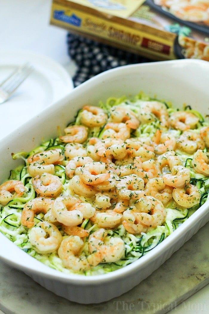 Zucchini Noodles and Shrimp 4