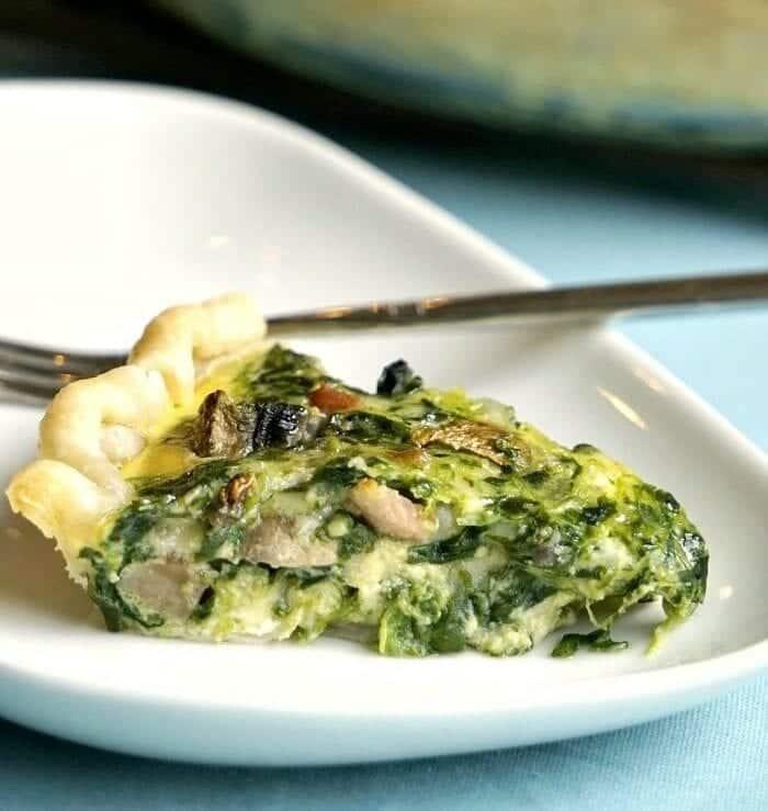basic spinach quiche