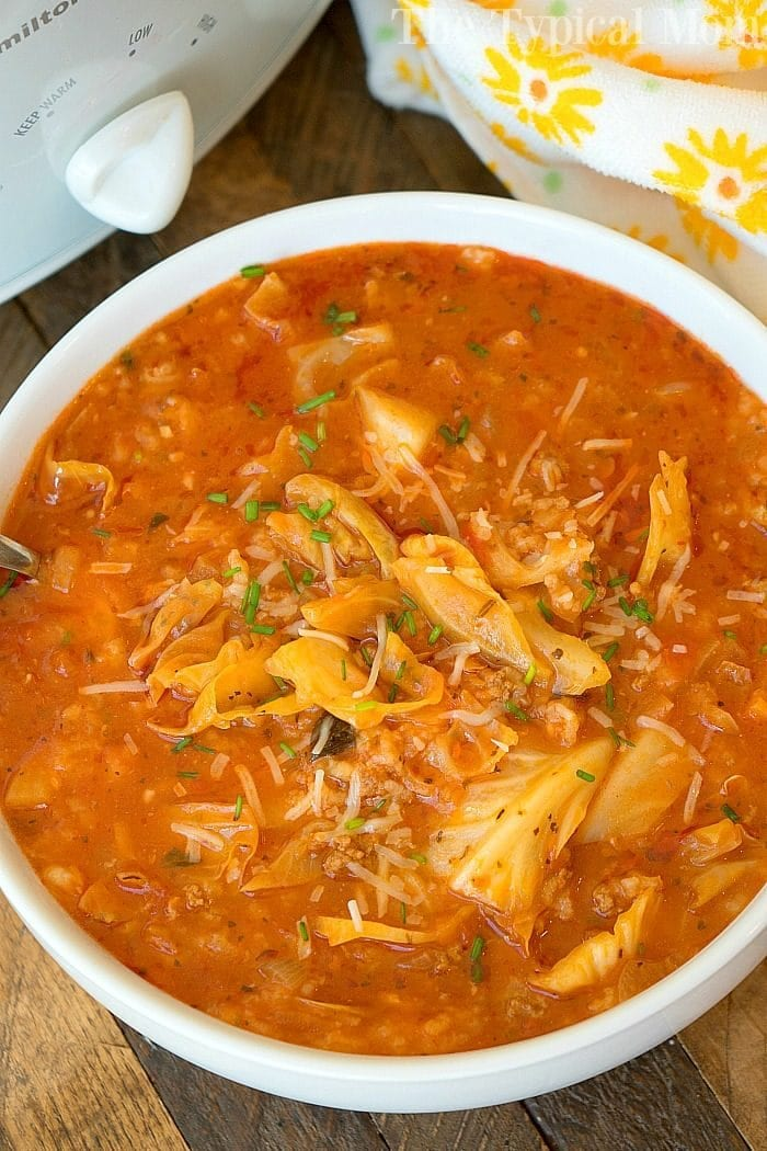 slow cooker stuffed cabbage soup