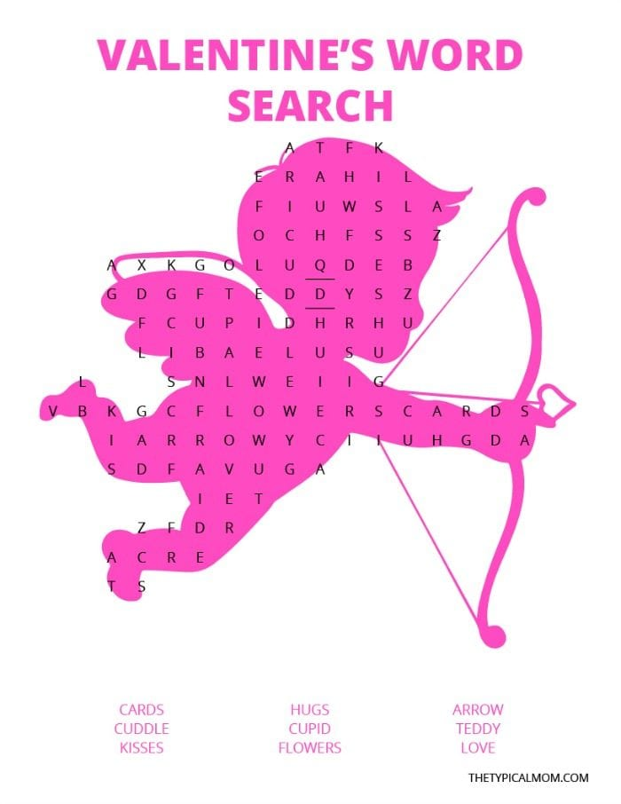 image relating to Valentine Day Word Search Printable named Valentine Term Seem · The Standard Mother