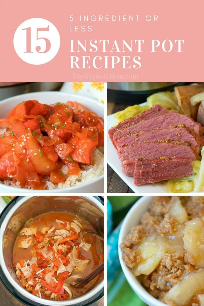 3 Ingredient Instant Pot Recipes