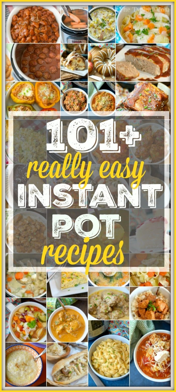 Easy Instant Pot recipes that are simple and delicious! 101 + dinners, soups, side dishes, desserts and vegetables cooked perfectly in our pressure cooker.  #instantpot #pressurecooker #simple #easy #recipes #dinner #dessert #vegetable #sidedish