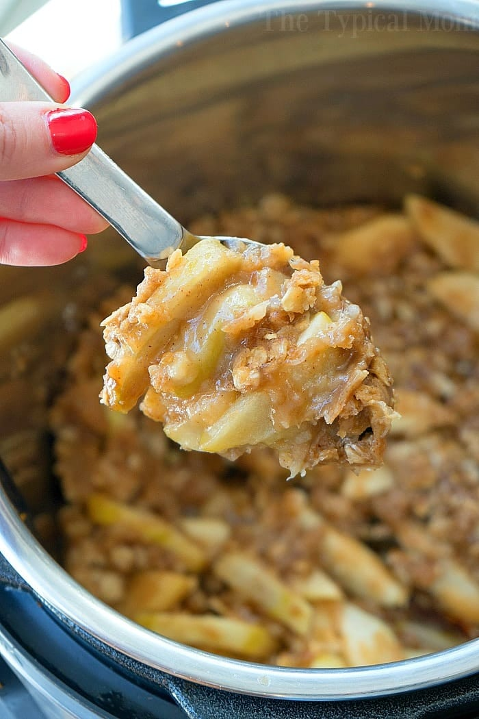 Instant Pot Apple Crisp Recipe | We've scoured the internet for some of the best Instant Pot Recipes, and found an amazing assortment! You'll love these handpicked Instant Pot recipes, | Homestead Wishing, Author Kristi Wheeler | https://homesteadwishing.com/instant-pot-recipes/ | instant-pot-recipes #instantpotrecipes #recipes #pressurecookerrecipes #pressurecooker