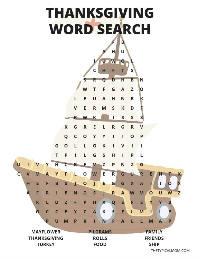 graphic regarding Printable Thanksgiving Word Searches identified as Thanksgiving Phrase Appear · The Conventional Mother