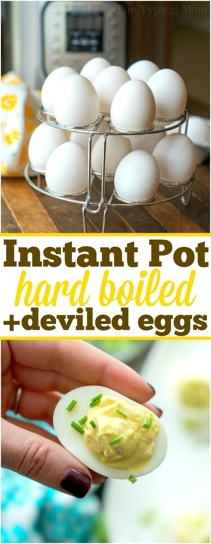 This is how you make Instant Pot hard boiled eggs in bulk and the secrets to the best deviled eggs in town. How long to cook eggs in your pressure cooker to get the perfect yolk for your favorite appetizer and the best hard boiled eggs to snack on too. Tips and tricks on how we do it. #instantpot #pressurecooker #hardboiledeggs #boiled #eggs #perfect #instructions #time #timing #deviled