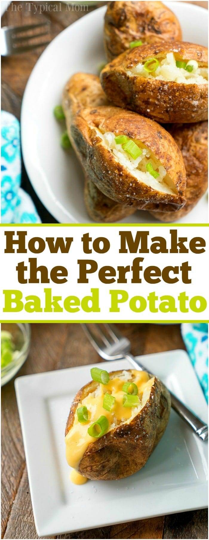This is the best way to make baked potatoes so they're tender and fluffy on the inside with crispy flavorful potato skins! Used as a side dish or dinner stuffed with chili or cheese they're delicious and cheap to make. If you're looking for an easy baked potato recipe I've got it here. #bakedpotatoes #howtomake #perfect #potatoes #baked #sidedish #healthy #easy