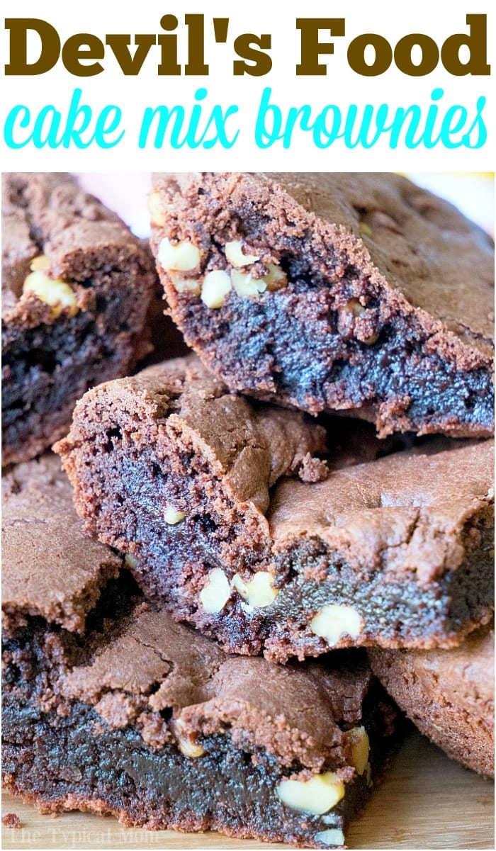 Brownies from Cake Mix Devil's Food