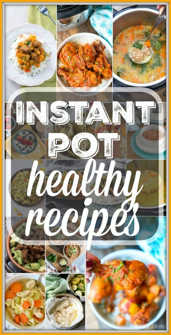 Here are a bunch of delicious healthy electric pressure cooker recipes to pick from when you want a quick but healthy meal. It's very possible to make amazing healthy Instant Pot dinners on a regular basis that even your kids will love, I'll show you which ones are our favorites. #healthy #instantpot #pressurecooker #recipes #soup #chicken #dinner #easy