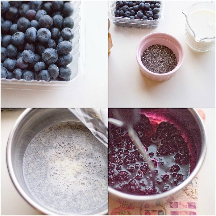 blueberry chia dessert