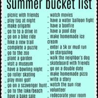 teenage summer bucket list ideas