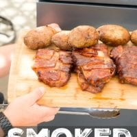 Smoked Bacon Wrapped Pork Chops