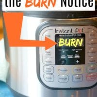 burn on instant pot