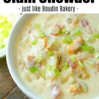 easy instant pot clam chowder